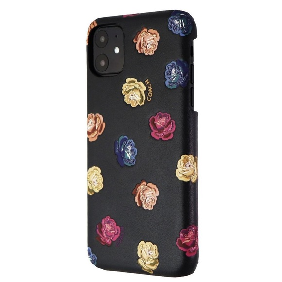 Coach Accessories - Sold Coach iPhone 11 Leather Case Rainbow Peony